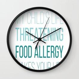 Food alergy t-shirt Wall Clock