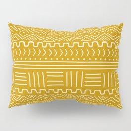 Mud Cloth on Mustard Pillow Sham