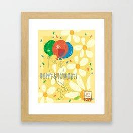 Birthday Cards Framed Art Print