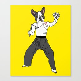 Kungfu Bulldog Lee Canvas Print