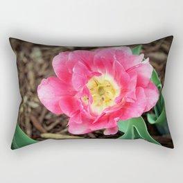 Pink Double Tulip Rectangular Pillow
