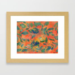 Autumn and Leaves Framed Art Print