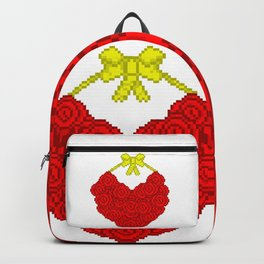 Pixel Roses Backpack