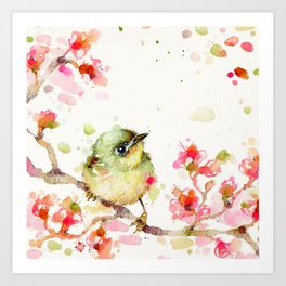Mr Fluffy Pants (bird) Art Print