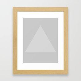 Gray Triangle Framed Art Print