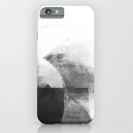 Black and White Contrast Textured Abstract iPhone Case