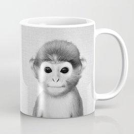Baby Monkey - Black & White Coffee Mug