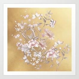 Chinoiserie Gold Art Print