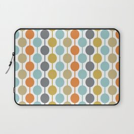 Retro Circles Mid Century Modern Background Laptop Sleeve
