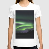 northern lights T-shirts featuring Northern Lights by Pamela Barron