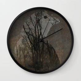Inside Crow Wall Clock
