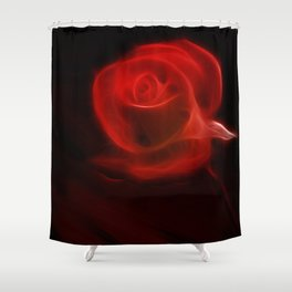 Electric Red Shower Curtain