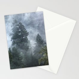 Smoky Redwood Forest Foggy Woods - Nature Photography Stationery Cards