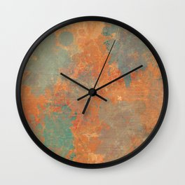 Terracotta Abstract Wall Clock