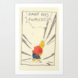 Bartkira has awakened  Art Print