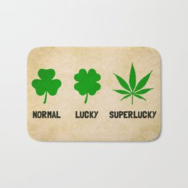 Cannabis / Hemp / Shamrock - Super Lucky mode Bath Mat