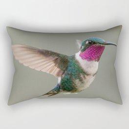 White-bellied Woodstar Hummingbird Rectangular Pillow