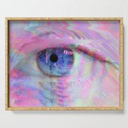 Digital Evil Eye Serving Tray