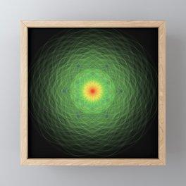 Green Mandala Framed Mini Art Print