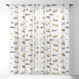 Ants Carrying Snacks Sheer Curtain