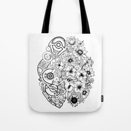 Left Brain - Right Brain Tote Bag