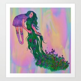 you love my hair because it grows everyday  Art Print