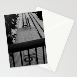 MBTA Commuter Rail Train in Beverly, Mass  Stationery Cards
