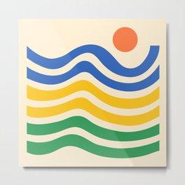 Colorful Sun and Seascape 4 Metal Print