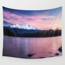 Sublime a sunrise at Lake Siskiyou with Mt. Shasta Wall Tapestry