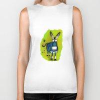 donkey Biker Tanks featuring Donkey by t i t i l l a