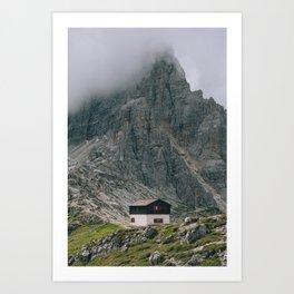 Hut at Locatelli Art Print