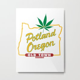 Potland Oregon Metal Print