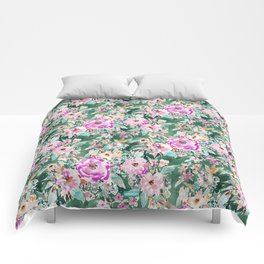 WANDERLUSH Colorful Floral Comforters