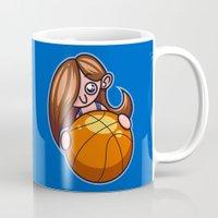 basketball Mugs featuring Basketball Player by Artistic Dyslexia