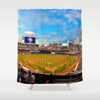 minnesota Shower Curtains featuring Minnesota Twins by John Andrews Design
