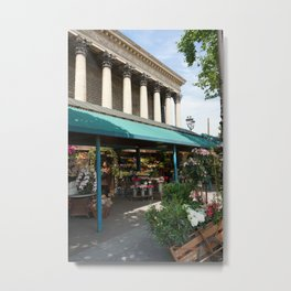 Paris Flower Vendor Metal Print