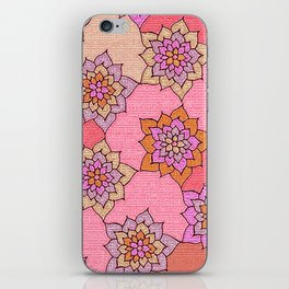 zakiaz hot pink lotus iPhone Skin