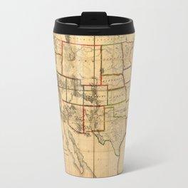 Western United States Territory Map (1858) Travel Mug