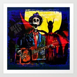 BLUES MAN Art Print