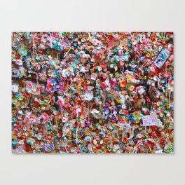 Gum Wall 2 Canvas Print
