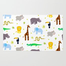Wild african animals pattern Rug
