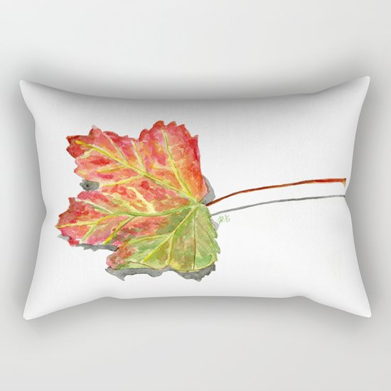 Autumn leaf of maple Rectangular Pillow