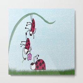 Ladybug Professing His Love Metal Print