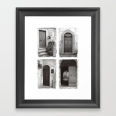 Doors of Rome Framed Art Print