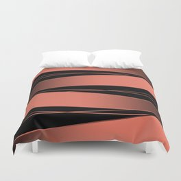 Black and red. Duvet Cover