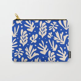 matisse pattern with leaves in blu Carry-All Pouch