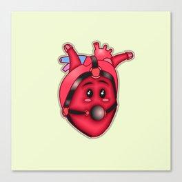 Heart Bond - Puffy Ross Pop Art Canvas Print