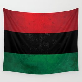 Distressed Afro-American / Pan-African / UNIA flag Wall Tapestry