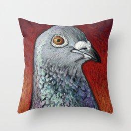 Blaze the Racing Pigeon Throw Pillow