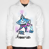 aquarius Hoodies featuring Aquarius  by sladja